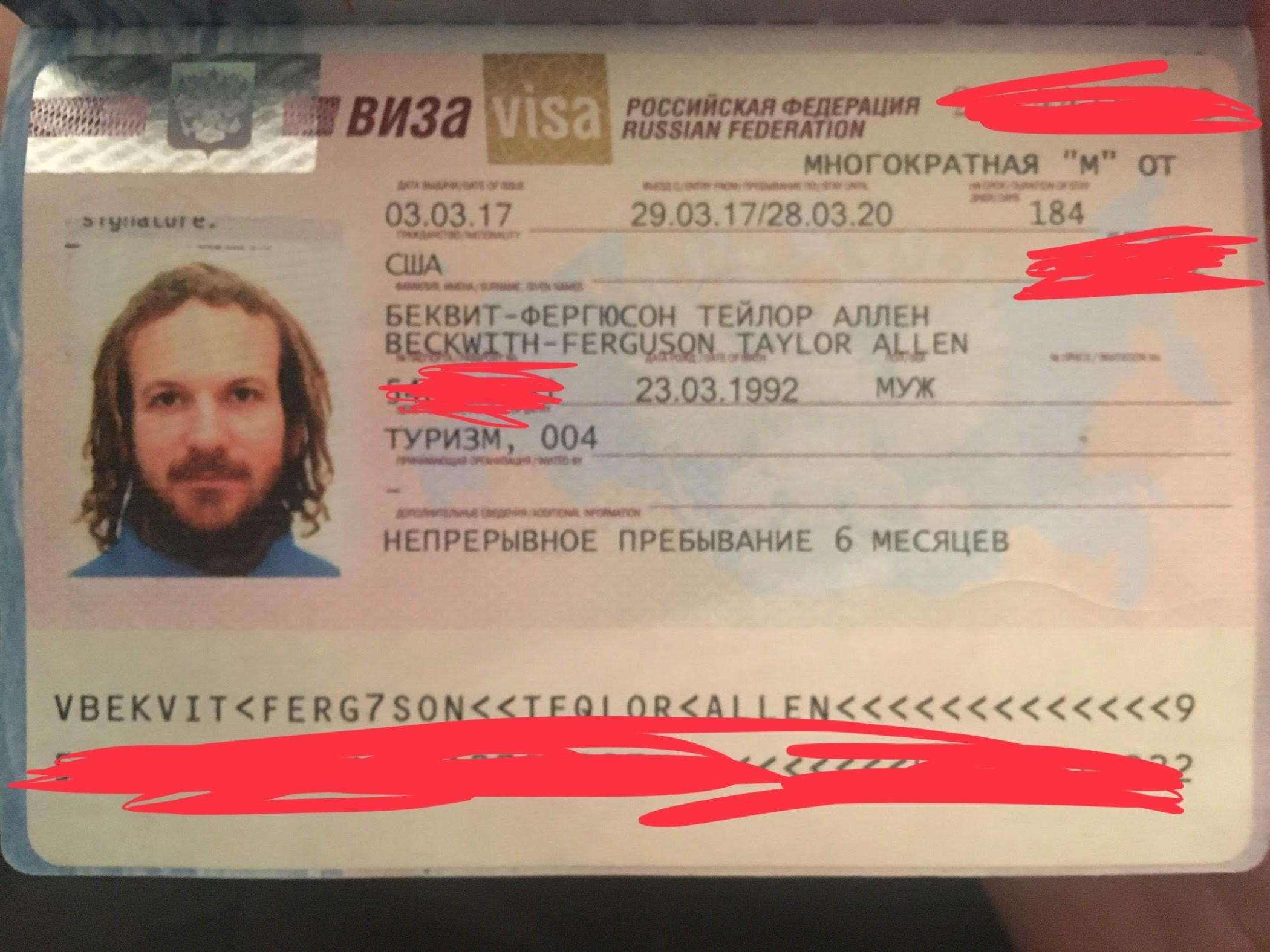 How to get a Russian Visa as a USA Citizen – Taylor Beckwith-Ferguson